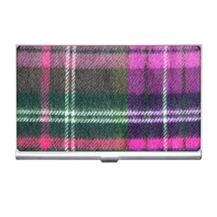 Pink Plaid Flannel Business Card Holders by snowwhitegirl