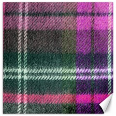 Pink Plaid Flannel Canvas 16  X 16