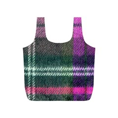 Pink Plaid Flannel Full Print Recycle Bags (s)  by snowwhitegirl