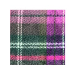 Pink Plaid Flannel Small Satin Scarf (square) by snowwhitegirl