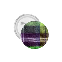 Neon Green Plaid Flannel 1 75  Buttons