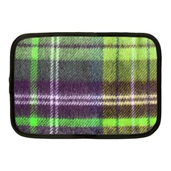 Neon Green Plaid Flannel Netbook Case (medium) by snowwhitegirl