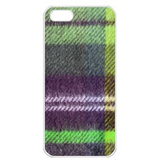 Neon Green Plaid Flannel Apple Iphone 5 Seamless Case (white) by snowwhitegirl