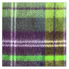 Neon Green Plaid Flannel Large Satin Scarf (square) by snowwhitegirl