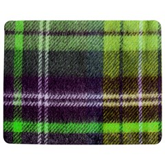 Neon Green Plaid Flannel Jigsaw Puzzle Photo Stand (rectangular) by snowwhitegirl