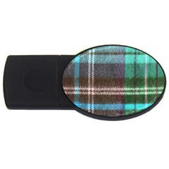 Blue Plaid Flannel Usb Flash Drive Oval (4 Gb) by snowwhitegirl