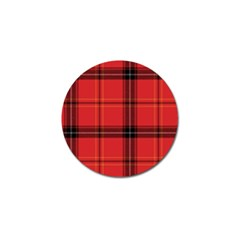 Red Plaid Golf Ball Marker (10 Pack)