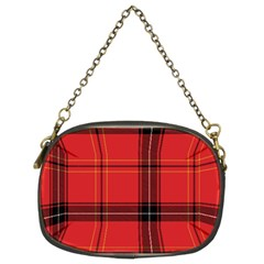 Red Plaid Chain Purse (two Sides) by snowwhitegirl
