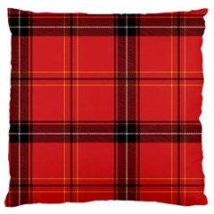 Red Plaid Large Cushion Case (one Side)