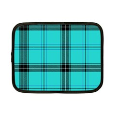 Aqua Plaid Netbook Case (small) by snowwhitegirl
