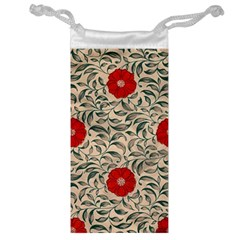Papanese Floral Red Jewelry Bags by snowwhitegirl