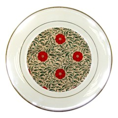 Papanese Floral Red Porcelain Plates by snowwhitegirl