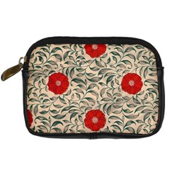 Papanese Floral Red Digital Camera Leather Case by snowwhitegirl