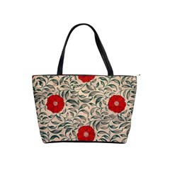 Papanese Floral Red Shoulder Handbags by snowwhitegirl