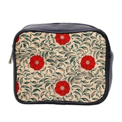 Papanese Floral Red Mini Toiletries Bag (two Sides) by snowwhitegirl