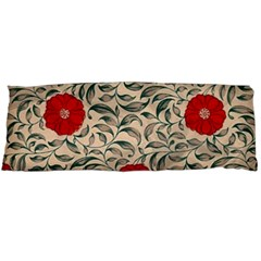 Papanese Floral Red Body Pillow Case (dakimakura) by snowwhitegirl