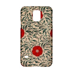 Papanese Floral Red Samsung Galaxy S5 Hardshell Case  by snowwhitegirl