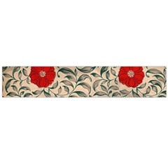 Papanese Floral Red Large Flano Scarf  by snowwhitegirl