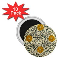 Japanese Floral Orange 1 75  Magnets (10 Pack)  by snowwhitegirl