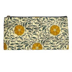 Japanese Floral Orange Pencil Cases