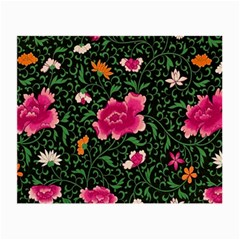 Pink Japan Floral Small Glasses Cloth (2-side) by snowwhitegirl