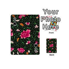 Pink Japan Floral Playing Cards 54 (mini)  by snowwhitegirl