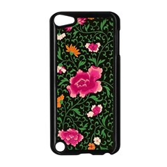Pink Japan Floral Apple Ipod Touch 5 Case (black) by snowwhitegirl