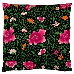 Pink Japan Floral Large Flano Cushion Case (one Side) by snowwhitegirl