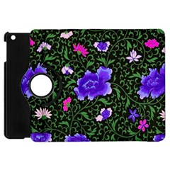Blue  Japan Floral Apple Ipad Mini Flip 360 Case by snowwhitegirl