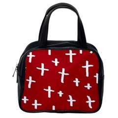 Red White Cross Classic Handbag (one Side) by snowwhitegirl