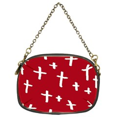 Red White Cross Chain Purse (two Sides) by snowwhitegirl