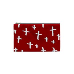 Red White Cross Cosmetic Bag (small) by snowwhitegirl