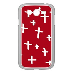 Red White Cross Samsung Galaxy Grand Duos I9082 Case (white) by snowwhitegirl