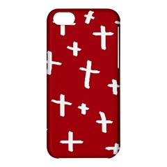 Red White Cross Apple Iphone 5c Hardshell Case by snowwhitegirl