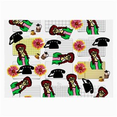 Office Girl Pattern Large Glasses Cloth by snowwhitegirl