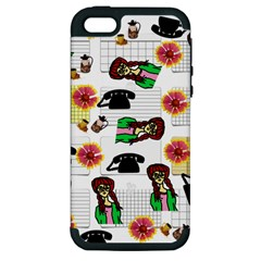 Office Girl Pattern Apple Iphone 5 Hardshell Case (pc+silicone) by snowwhitegirl