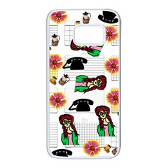 Office Girl Pattern Samsung Galaxy S7 White Seamless Case by snowwhitegirl