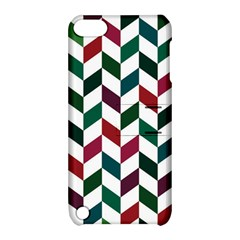 Zigzag Chevron Pattern Green Red Apple Ipod Touch 5 Hardshell Case With Stand by snowwhitegirl