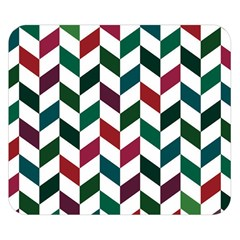 Zigzag Chevron Pattern Green Red Double Sided Flano Blanket (small)  by snowwhitegirl