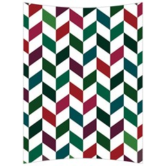 Zigzag Chevron Pattern Green Red Back Support Cushion by snowwhitegirl