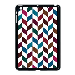 Zigzag Chevron Pattern Blue Brown Apple Ipad Mini Case (black) by snowwhitegirl