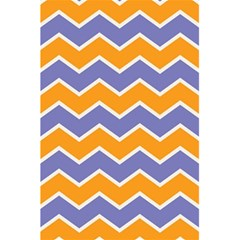 Zigzag Chevron Pattern Blue Orange 5 5  X 8 5  Notebooks by snowwhitegirl