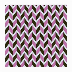 Zigzag Chevron Pattern Pink Brown Medium Glasses Cloth (2-side)