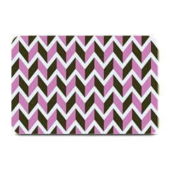 Zigzag Chevron Pattern Pink Brown Plate Mats by snowwhitegirl