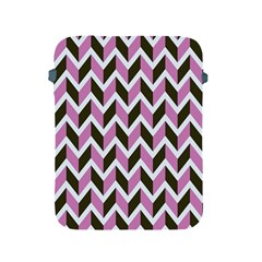 Zigzag Chevron Pattern Pink Brown Apple Ipad 2/3/4 Protective Soft Cases by snowwhitegirl