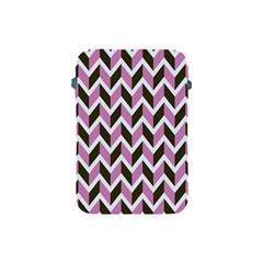 Zigzag Chevron Pattern Pink Brown Apple Ipad Mini Protective Soft Cases by snowwhitegirl