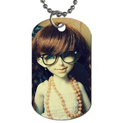 Red Braids Girl Old Dog Tag (two Sides) by snowwhitegirl