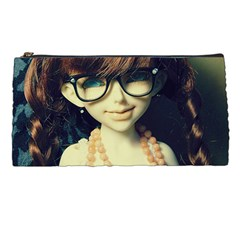 Red Braids Girl Old Pencil Cases by snowwhitegirl