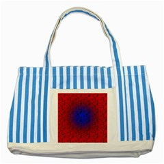 Red Music Blue Moon Striped Blue Tote Bag by snowwhitegirl