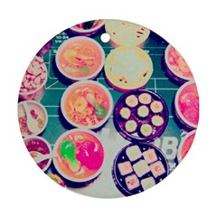 Ramen And Sushi Round Ornament (two Sides) by snowwhitegirl